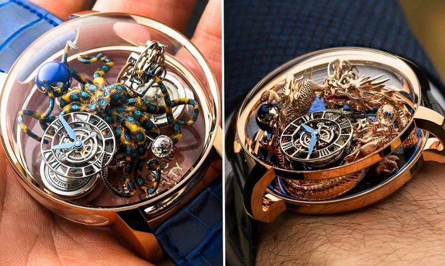Уникальные часы Astronomia Tourbillon от Jacob&Co украшает 3D-гравировка фантастических существ